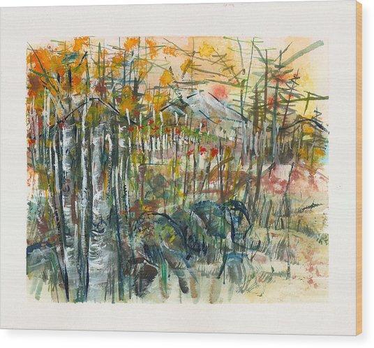 Spanish Peaks Study 2 Wood Print