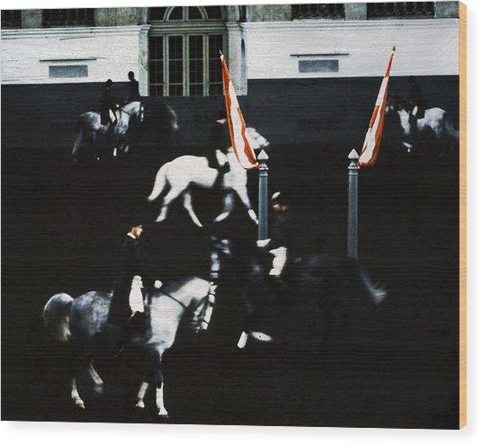 Spanish Riding School Wood Print