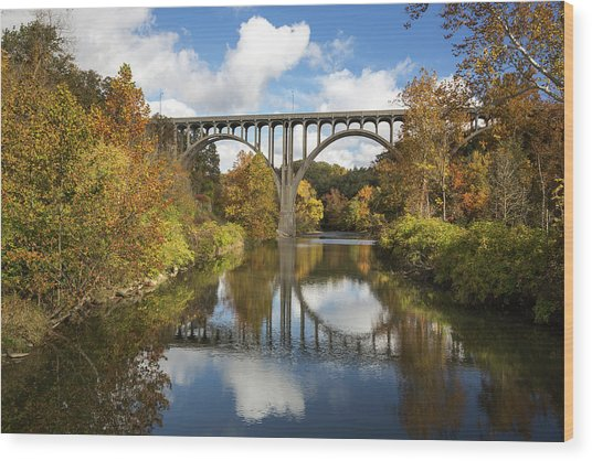 Spanning The Cuyahoga River Wood Print