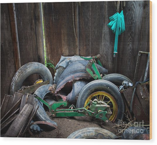 Spare Tires A-plenty Wood Print by Royce Howland