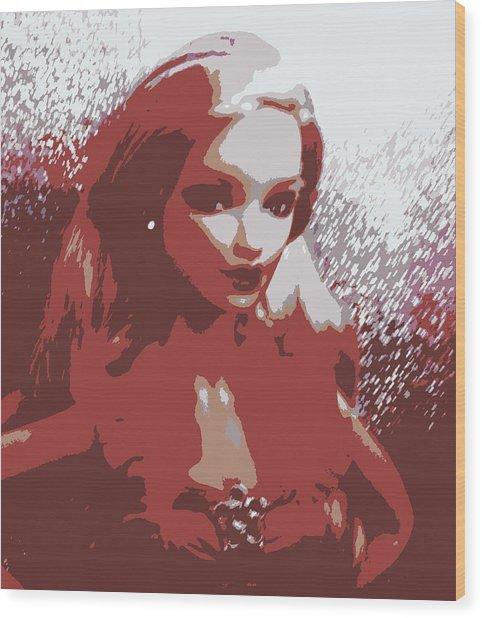 Sparkle Barbie Wood Print