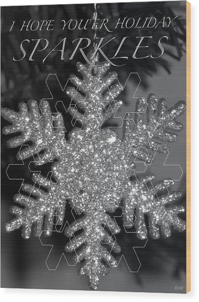 Sparkle Holiday Card Wood Print