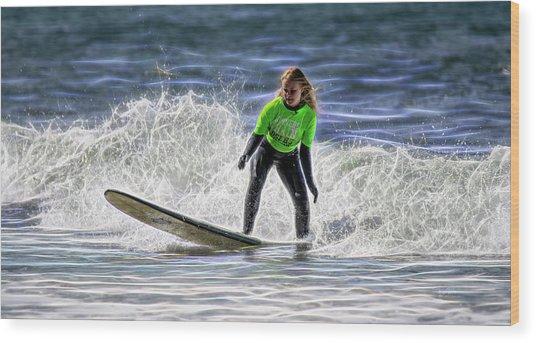 Sparkle Surf Wood Print
