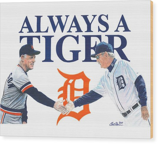 Sparky Anderson And Jim Leyland Wood Print