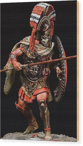 Spartan Hoplite - 05 Wood Print