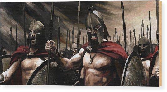 Spartans 300 Wood Print