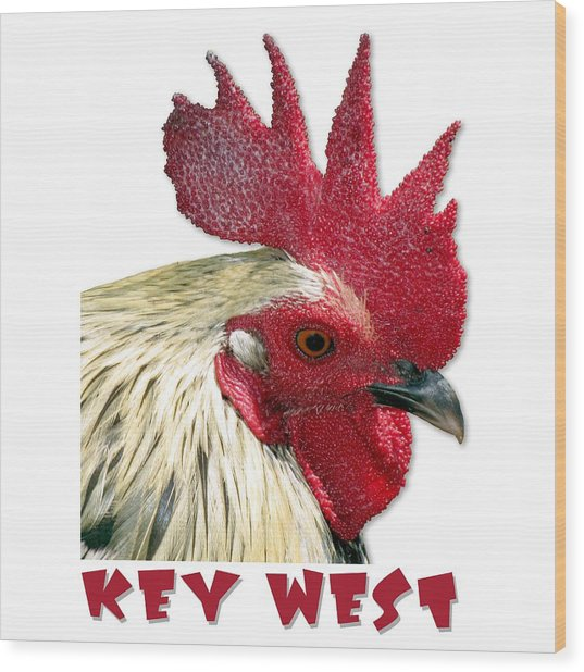 Special Edition Key West Rooster Wood Print