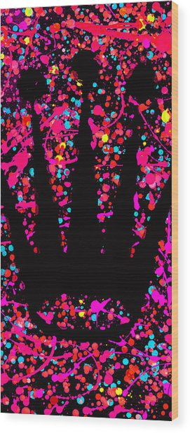 Speck Of Time Pink Wood Print
