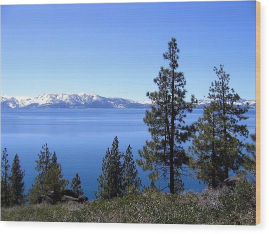 Spectacular Lake Tahoe Wood Print