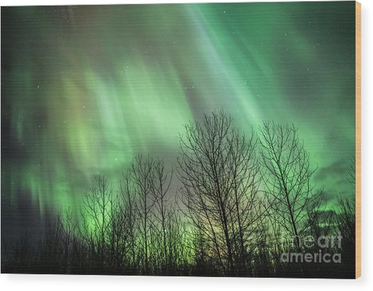 Spectacular Lights Wood Print