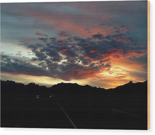 Spectacular Sky Wood Print