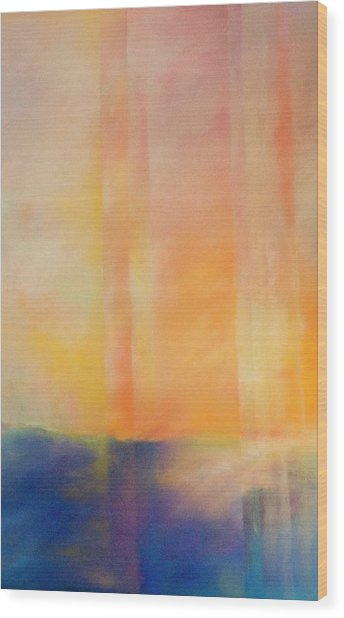 Spectral Sunset Wood Print
