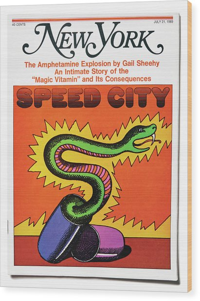Speed City Wood Print