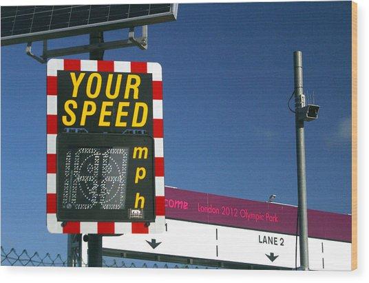 Speed Up Wood Print by Jez C Self