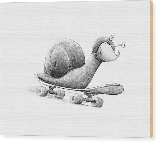 Speedy Wood Print