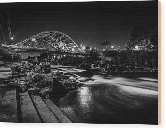 Speer Blvd. Bridge Wood Print by Richard Raul Photography