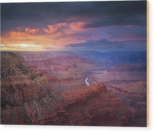 Spendid Light // Grand Canyon National Park  Wood Print