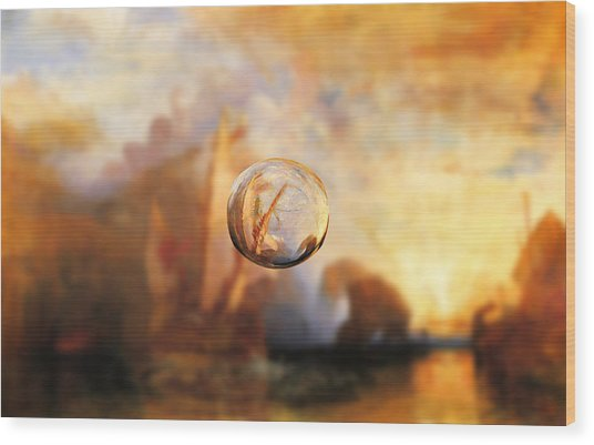 Sphere 11 Turner Wood Print