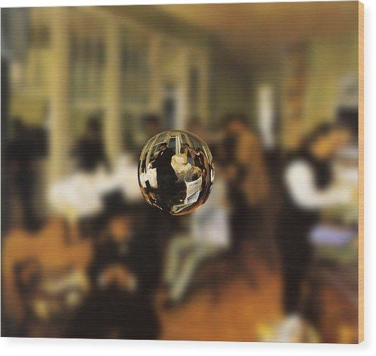 Sphere 17 Degas Wood Print