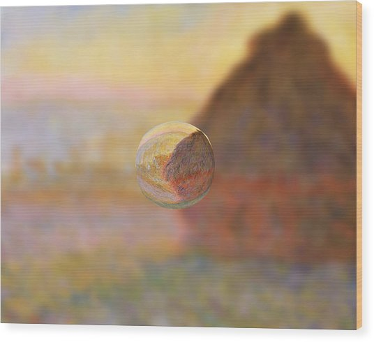 Sphere 5 Monet Wood Print