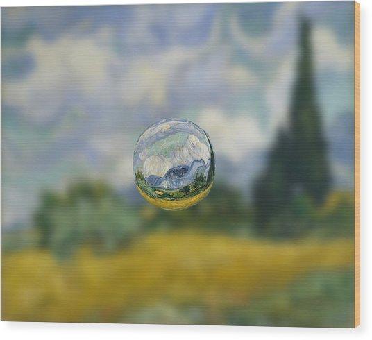 Sphere 7 Van Gogh Wood Print