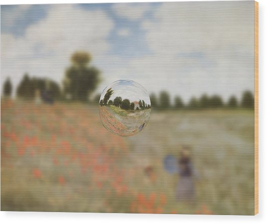 Sphere 9 Monet Wood Print