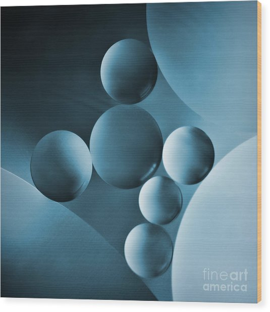 Spheres Wood Print