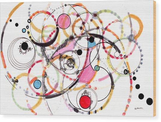 Spheres Of Influence Wood Print