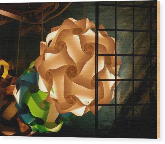 Spheres Of Light Wood Print