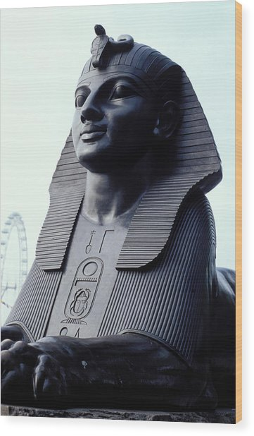Sphinx In London Wood Print by Carl Purcell