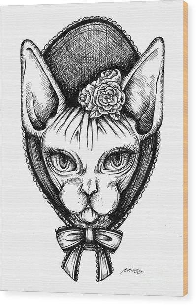 Sphynx Lady Wood Print