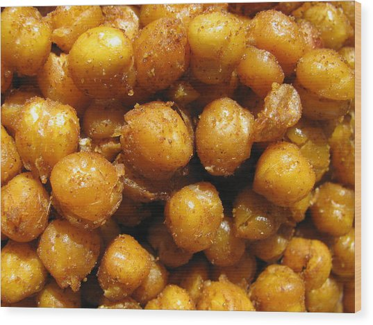 Spicy Chick Peas Wood Print