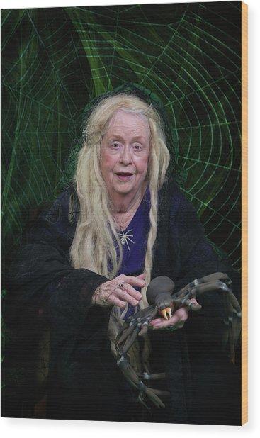 Spider Woman Wood Print