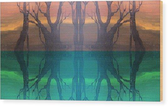 Spiegelungen Wood Print by Amrei Al-Tobaishi-Jarosch