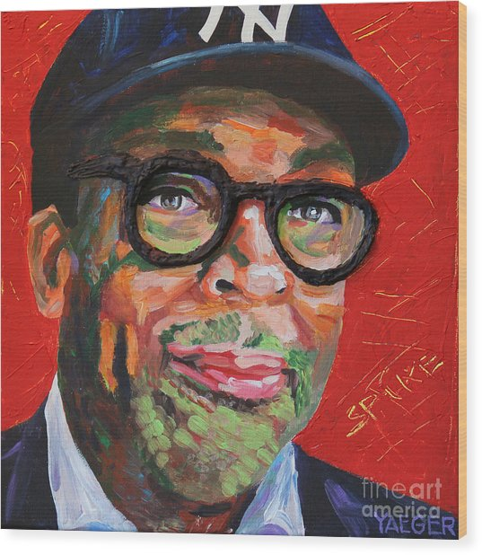 Spike Lee Portrait Wood Print
