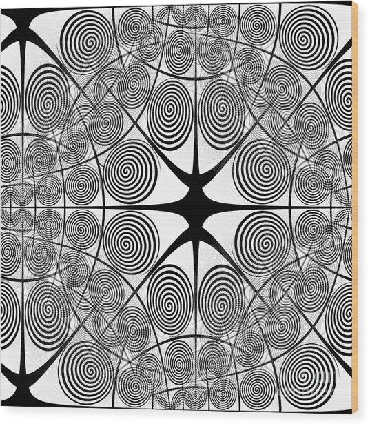 Spiral Abstract 7 Colour Choice Wood Print