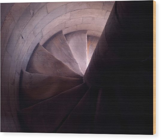 Spiral Of Time Wood Print