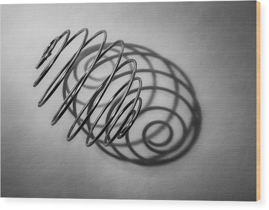Spiral Shape And Form Wood Print
