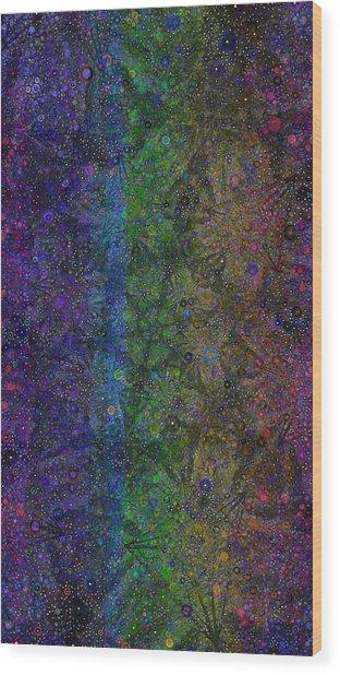 Spiral Spectrum Wood Print