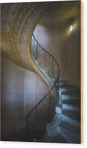 Spiral Staircase Melk Abbey II Wood Print