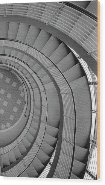 Spiraling Down  Wood Print