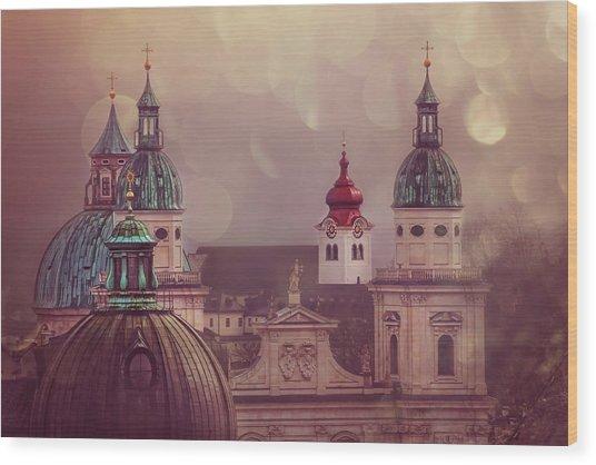 Spires Of Salzburg  Wood Print