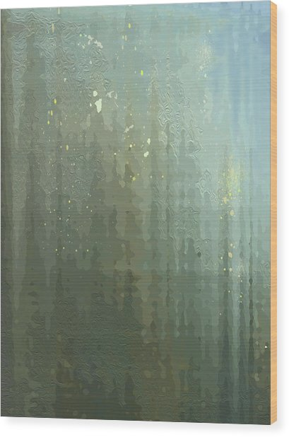 Spires Through A Window Wood Print