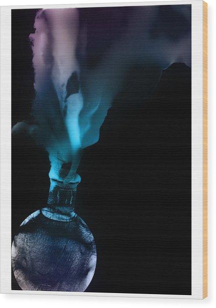 Spirit Bottle Wood Print
