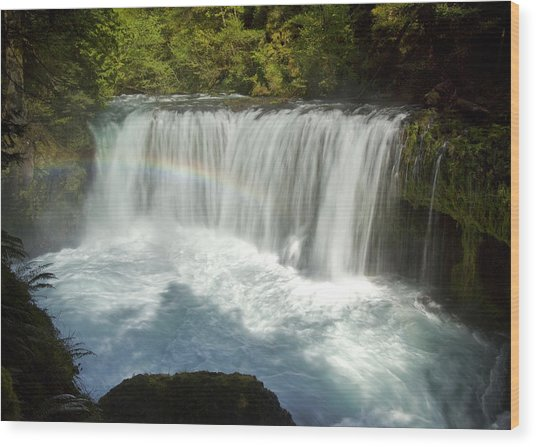 Wood Print featuring the photograph Spirit Falls by Jon Ares
