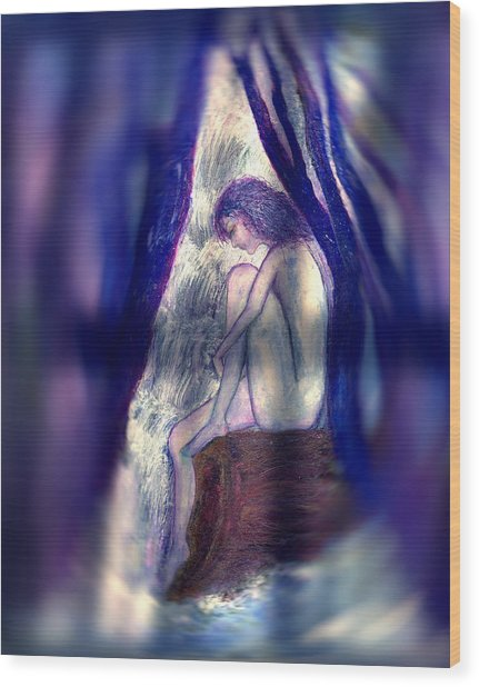 Spirit Guides IIi Wood Print by Patricia Motley