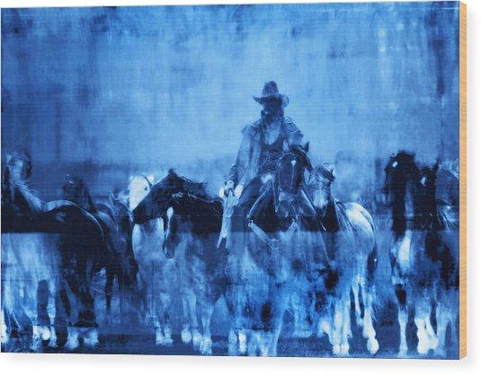 Spirit Herd Wood Print by Nick Sokoloff