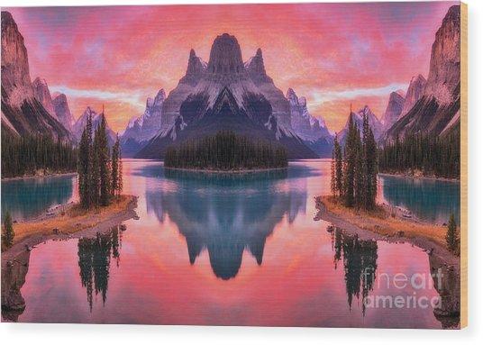 Spirit Island Reflections Wood Print