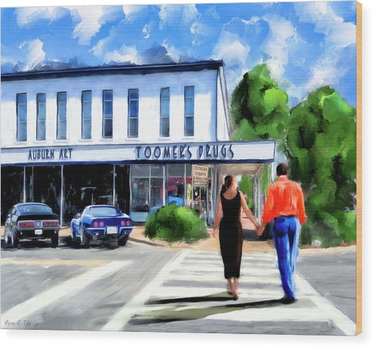 Spirit Of Auburn - Toomer's Corner Wood Print