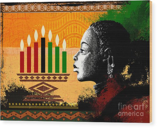 Spirit Of Kwanzaa Wood Print
